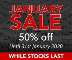 January Sheet Music & Books Sale - 50% off