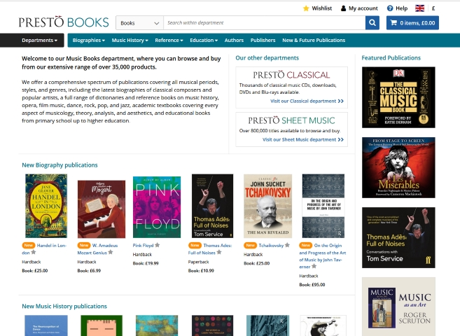 Books Home Page