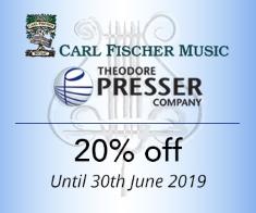 Carl Fischer & Theodore Presser -  20% off