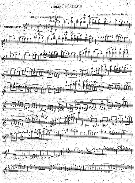 Léonard's violin part