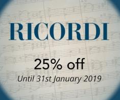 Ricordi -  25% off