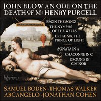 Blow: An Ode on the Death of Mr Henry Purcell