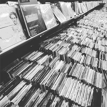 Photo of CD shelves at Presto Music