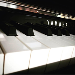 Yamaha Piano close up