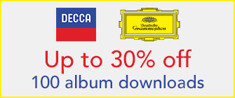 100 Decca & DG albums - up to 30% off downloads