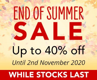 End of Summer Sale - up to 40% off