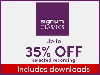 Signum Records - Up to 35% off selected recordings