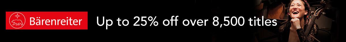 Barenreiter - up to 25% off until 31st October 2021