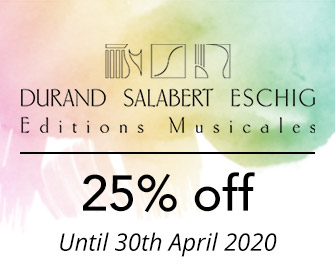 Durand, Salabert, & Max Eschig - 25% off