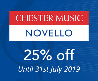 Chester Music and Novello - Up to 25% off until 31st July 2019