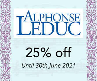 Leduc, Heugel & Hamelle - up to 25% off until 31st July 2018