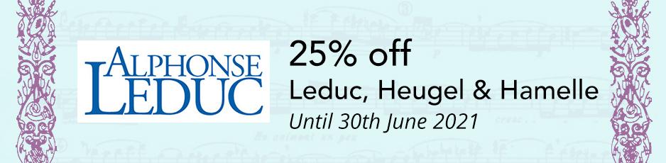 Leduc, Heugel & Hamelle - up to 25% off until 31st July 2018