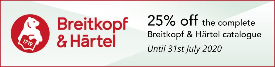 Breitkopf & Hartel - 25% off