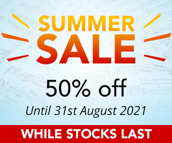 Summer Sheet Music Sale - 50% off while stocks last