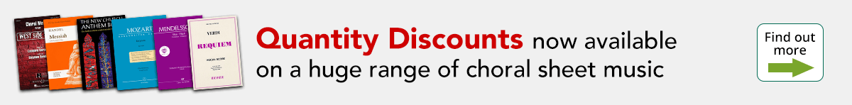 Choral Discounts now available