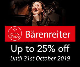 Barenreiter - up to 25% off until 31st October 2019