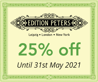Edition Peters - 25% off