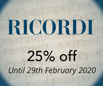 Ricordi: 25% off until 31st January 2019