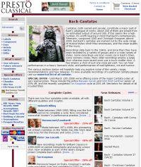 New Bach Cantatas page