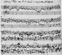A six-part fugue from The Musical Offering
