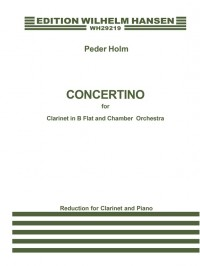 Peder Holm: Concertino For Clarinet and Piano