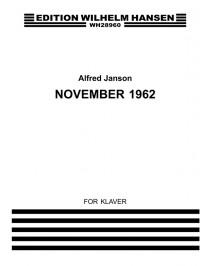 Alfred Janson: November 1962