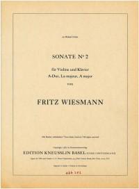 Wiesmann, Fritz: Sonate Nr. 2 für Violine und Klavier A-Dur