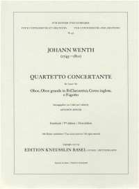 Wenth, Johann: Quartetto concertante