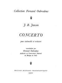 Janson: Concerto pour Violoncelle et Orchestre