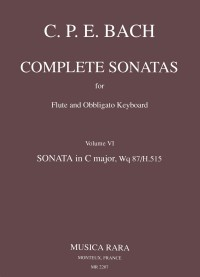 Bach, CPE: Sonate in C Wq 87
