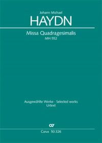 Haydn: Missa Quadragesimalis (MH 552; a-Moll)