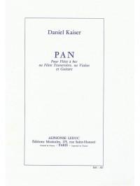 Daniel Kaiser: Pan for Alto Recorder and Guitar