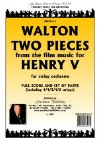 Walton: Two Pieces From Henry V Score