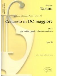 Tartini Volume 10 Conc C Maj D12 Pts
