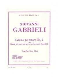Giovanni Gabrieli: Canzona Per Sonare No.2 (Four-Part Brass Choir)