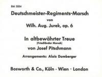 Josef Pitschmann_Wilhelm August Jurek: Deutschmeister-Regiments-Marsch