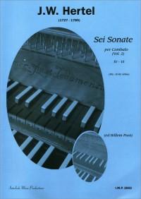 J.C. Hertel: 6 Sonaten 1 (4-6) Cembalo