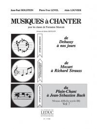 Colette Wyss: Level Musiques A Chanter 3 Vol 7 Plain Chant Bach