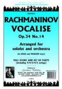 Sergei Rachmaninov: Vocalise solo+orch  Score