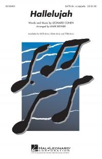 Cohen Leonard Hallelujah (Arr Brymer Mark) Satb Div A Cappella Choral