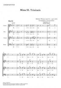 Wiesner, Melchiro: Missa Trinitatis
