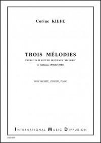 Corine Kiefe: 3 Mélodies