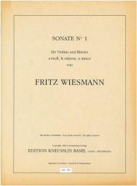 Wiesmann, Fritz: Sonate Nr. 1