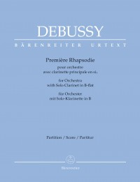 Debussy: Première Rhapsodie for Clarinet and Orchestra (Full Score)