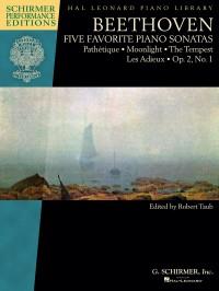 Beethoven: Five Favorite Piano Sonatas