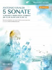 Antonio Vivaldi: 5 Sonatas for Violin and Basso Continuo