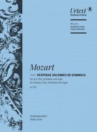 Wolfgang Amadeus Mozart: Vesperae solennes de Dominica K. 321