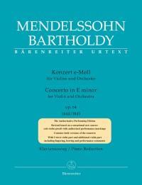 Mendelssohn, Felix: Concerto for Violin and Orchestra in E minor op. 64