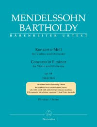 Mendelssohn, Felix: Concerto for Violin and Orchestra in E minor op. 64