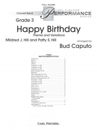 Mildred J. Hill_Patty S. Hill: Happy Birthday Theme and Variations